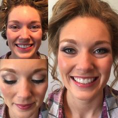 Before and after makeup of my April 23, 2016 bride, Allison.
