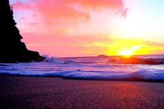 Sunset in the beach!!