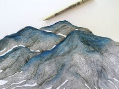 Gilmore, K. (Artist). 2015. From math to murals. [digital image]   This is another one of Katy Gilmores pieces. I really like her work and how she uses a combination of lines and gridwork to create this really intricate mountain ranges. This is not something that I can relate specifically to GIS but I really like the simplicity of the small lines to create a larger image. I also like her subtle use of color at the top of the mountains.