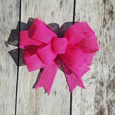 Cute big hot pink burlap bow. Perfect for baby showers and weddings. Check out this item in my Etsy shop https://www.etsy.com/listing/462558228/hot-pink-burlap-bow-wreath-bow-big-pink