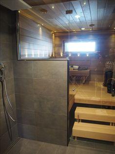 Sauna lasiseinällä
