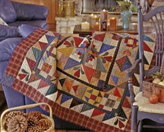 Hearthside Memories  Quilt designer: Kim Diehl  From American Patchwork & Quilting, December 2002