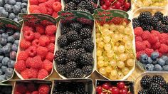 Nordic and nice: berries at a Finnish market.