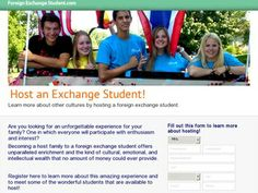 Are you looking for an unforgettable experience for your family? One in which everyone will participate with enthusiasm and interest? Becoming a host family to a foreign exchange student offers unparalleled enrichment and the kind of cultural, emotional, and intellectual wealth that no amount of money could ever provide. #student_exchange Hosting An Exchange Student, Foreign Exchange, World Trade Center Site, Social Networks, Social Media, Family First, Windows 8, Buisness, Seo Services