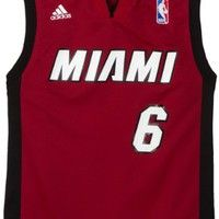 LeBron James Miami Heat  6 Youth Revolution 30 Replica Adidas NBA  Basketball Jersey (Alternate Red) 75452cb87