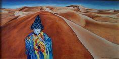 """""""Maschera nel deserto"""" di R. Mendicino (olio su tela) 40x80"""