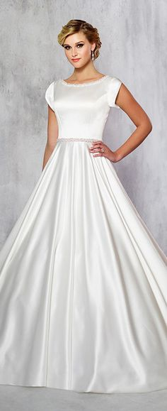 Coming soon- Modest by Mon Cheri style TR21716 in ivory, sample size 16