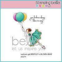 Stamping Bella Rubber Stamp - Uptown Girl Bentley Gets Blown Away | MarkerPOP.com