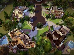 melcastro91's Springdale Court - NO CC! Sims 4 House Design, Sims House Plans, Casas The Sims 4, Cottage Floor Plans, Fairytale Cottage, Sims 4 Build, Outdoor Retreat, Sims Community, House Layouts