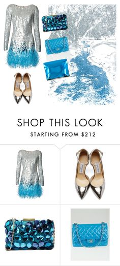 """""""Frozen"""" by victoriabeijing ❤ liked on Polyvore featuring Matthew Williamson, Jimmy Choo, Love Moschino, Chanel and MM6 Maison Margiela"""