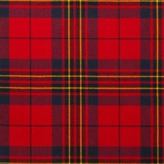 Leslie Red Lightweight Tartan by the meter – Tartan Shop