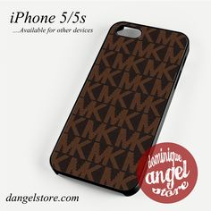 MK in Brown Phone case for iPhone 4/4s/5/5c/5s/6/6 plus