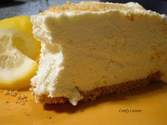 Lemon no bake whipped cream cheese cake .... I like to add a little zest as well