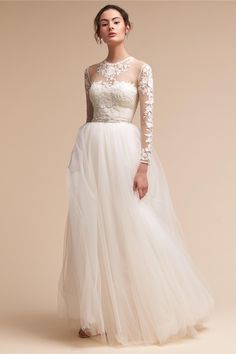 bcfb45cd221 Wedding Dress with Bodysuit and Skirt
