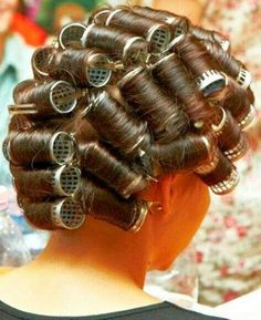 Chris, now Krissi loved having his long feminine hair set on rollers. He was happiest when he was being made to look like a pretty girl.