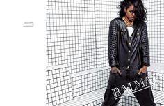 Rihanna para la campaña de Balmain S&V  2014