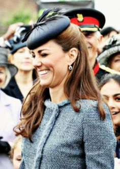 Duchess of Cambridge during a visit to Nottingham, England for the 2012 Diamond Jubilee Tour.