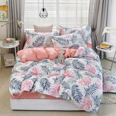 Tropical Plant Kid Bed Cover Set Duvet Cover Adult Child Bed Sheets And Pillowcases Comforter Bedding Set Luxury Comforter Sets, King Size Bedding Sets, Cheap Bedding Sets, Queen Comforter Sets, Comforter Cover, Bed Cover Sets, Bed Sets, Bed Covers, Bed Sheet Sets
