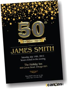 19 Best 50th Birthday Invitations Images 50th Party Invitations