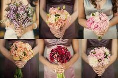 Found on WeddingMeYou.com - Mismatched Bridesmaid Bouquet Ideas