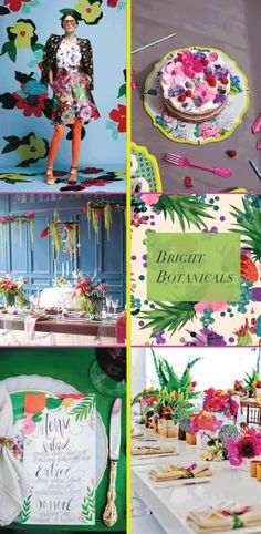 Modern Neon and Geometric Botanical Wedding Inspiration