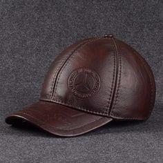 f89421ab269f5 Outono e inverno de alta qualidade do couro boné de beisebol cap macho  genuíno chapéu de couro masculino cap para o homem ao ar livre tampão  ocasional B ...