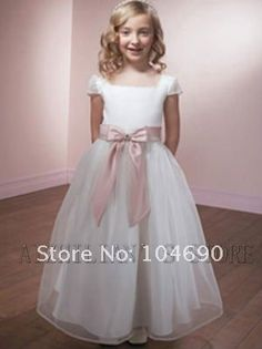 free ship,custom,fancy ,wedding ,Pageant Party, flower girls dress ,white-in Flower Girl Dresses from Apparel & Accessories on Aliexpress.com