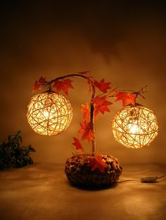 Whether it is work, study or life, you can't do without a lamp. It is the best partner for your work at the desk, and it is also a beam of light that warms Rustic Lighting, Cool Lighting, Luminaire Original, Recycled Home Decor, Drop Lights, I Love Lamp, Autumn Lights, Garden Lamps, Stylish Bedroom