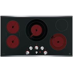 "GE Profile PP7036SJSS 36"" Stainless Steel Electric Cooktop - http://www.our-shopping-store.com/appliances.asp"