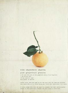 Katie Quinn Davies' recipe of pink grapefruit granita.