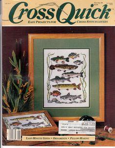 Dec /Jan 1989 Counted Cross Stitch magazine - Cross Quick Fish, Watchband, & Santas