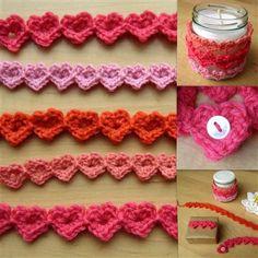 This crochet heart band is adorable. Heart Strings - Media - Crochet Me