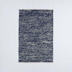 Painter's Cotton + Wool Rug - Midnight   West Elm 4x6 $69.99