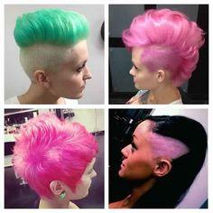 Pravana vivids  mint and bubblegum pink mohawks! <3