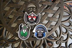 30% off  Monster Sticker Pack 3 stickers by Biiiinx on Etsy