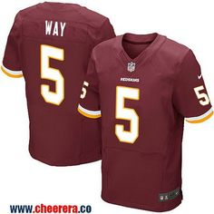 Men's Washington Redskins #5 Tress Way Burgundy Red Team Color Stitched NFL Nike Elite Jersey