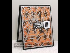 Spider Web Cover-Up Die-namics from My Favorite Things - YouTube #mftstamps