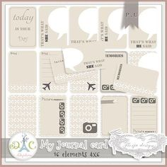 Free journal cards for project life :: nice and neutral