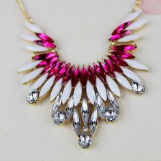 Spring Fashion Metal Necklace - $6.99 - Come in Rose Red, Green & Yellow!!!