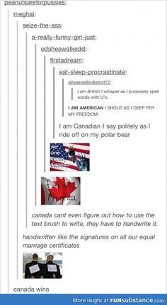 Canada wins :D