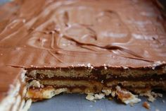 Homemade KitKat bars. What I love about this recipe is that it uses easy to find ingredients!