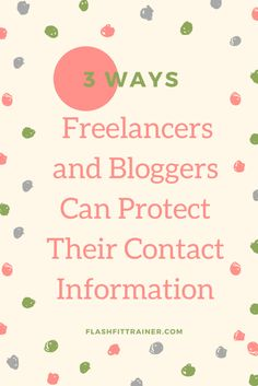 How to protect your identity online for freelancers and bloggers.