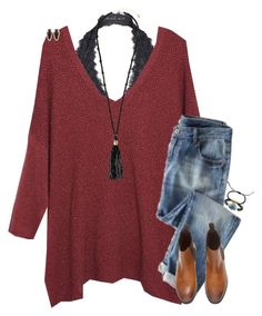 """""""Exact OOTD"""" by cfc-prep-sc ❤ liked on Polyvore featuring Free People, Violeta by Mango, Wrap, Monsoon, Kendra Scott, Tai, women's clothing, women's fashion, women and female"""