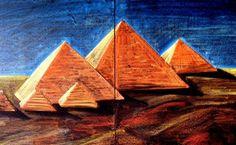 Pyramids of Giza Ancient Egypt Pyramids, Pyramids Of Giza, Ancient Aliens, Ancient Greece, Chalkboard Drawings, Chalk Drawings, History Of India, Ancient History, European History
