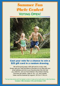 Don't forget to vote in our Summer Fun Photo Contest for a chance to win a gift card for children's books!
