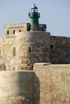 Castello ManiaceLight, Siracusa, Sicily, Italy