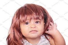 Girl and wig by De todo un poco on @creativemarket