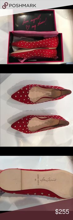 Isa Tapia Flats New in box Isa Tapia shoes, suede upper and leather lining with scalloped detailing and metallic studs around the shoe. You can find this brand at Bloomingdales and Saks Isa Tapia Shoes Flats & Loafers