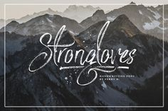 Strongloves - Handwritting Font by feydesign on @creativemarket