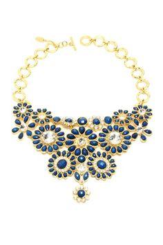 Crystal Cocoa Bib Necklace by Amrita Singh on @HauteLook